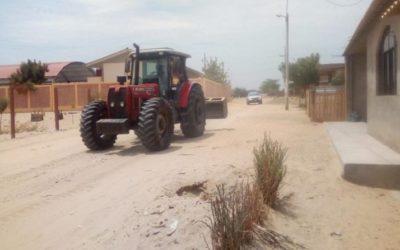 Camposol colabora con la nivelación de calles en San Juan de Curumuy