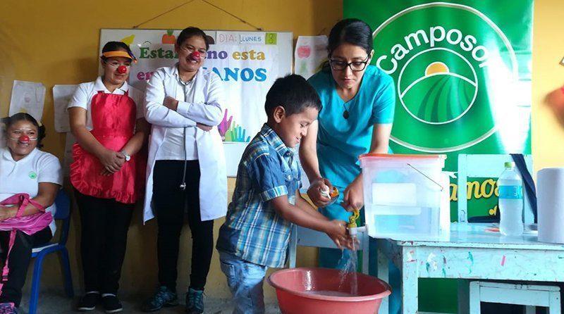 Camposol organizó campaña sobre la importancia de lavarse las manos en colegios