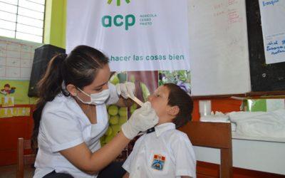 ACP realiza campañas de higiene y salud en I.E. de Pacanga