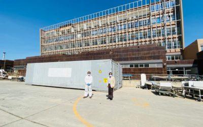 Cerro Prieto entrega contenedores frigoríficos para apoyar a la lucha contra el COVID-19