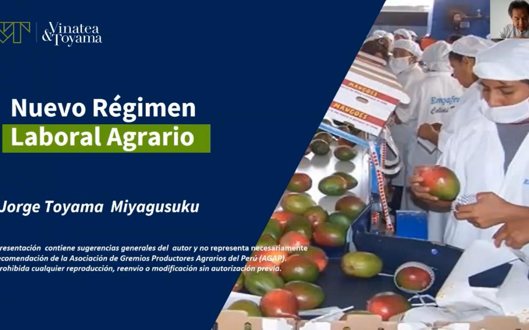 Webinar: Nuevo Régimen Laboral Agrario