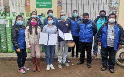 La Libertad: Hortifrut colaboró con balones de oxígeno para la atención de pacientes COVID-19 de Chao y Virú