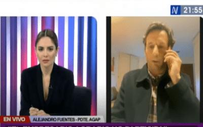 Entrevista a Alejandro Fuentes en 2021, Vía Canal N