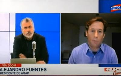 Entrevista a Alejandro Fuentes en Hablemos Claro, Vía Exitosa TV